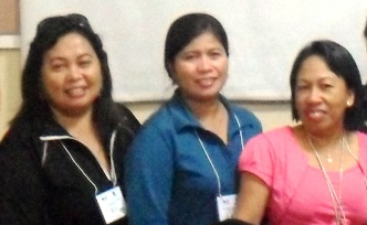 (Photo: journalist victims, from left to right: Marites Cablitas, Gina Dela Cruz and Marife Montaño; source MindaNews)