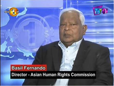 Sri Lanka: An Interview with Basil Fernando on the importance value systems and good governance in Sri Lanka on News First's Hot Seat Programme